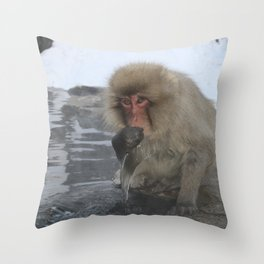 King of the Onsen Throw Pillow