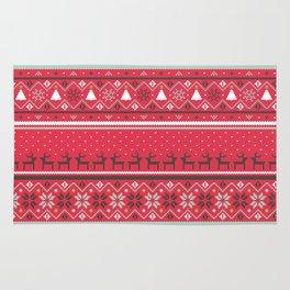 Festive FairIsle - Red Rug