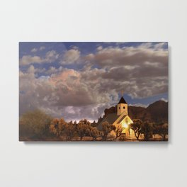 Chapel Among the Clouds Metal Print