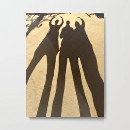 Three ladies shadow Metal Print
