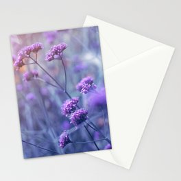 in purple mood Stationery Cards