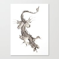 dragon Canvas Prints featuring Dragon by Ju.jo.weh