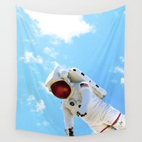 spaceman Wall Tapestries featuring Spaceman by Richwill Company