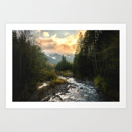 The Sandy River I - nature photography Art Print