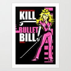 Kill Bullet Bill (Black/Magenta Variant) Art Print