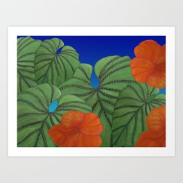 Australica Reef Affair Art Print