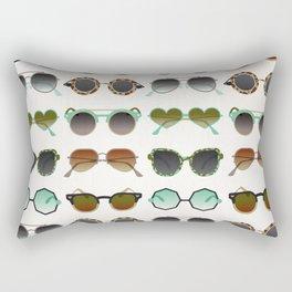 Sunglasses Collection – Mint & Tan Palette Rectangular Pillow