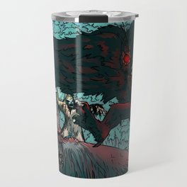 MOTHMAN DIVE BOMBING SASQUATCH Travel Mug