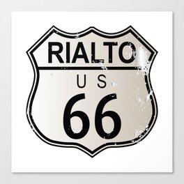 Rialto Route 66 Canvas Print
