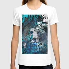 LION PRIDE ABSTRACT INK SPLASH PORTRAIT T-shirt
