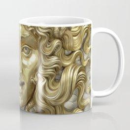 """Ancient Golden and Silver Medusa Myth"" Coffee Mug"
