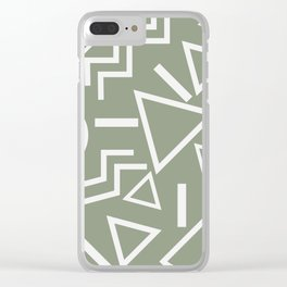 Shapes- lost and found Clear iPhone Case