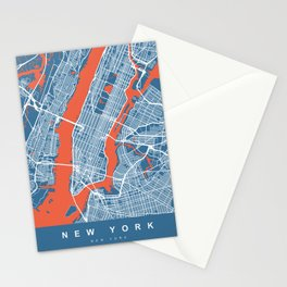 New York Map | Blue | More Colors, Review My Collections Stationery Cards