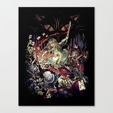 Zombies in Wonderland Canvas Print