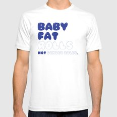 CHUBBY BABY SMALL White Mens Fitted Tee