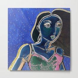 GIRL ELECTRIC Metal Print