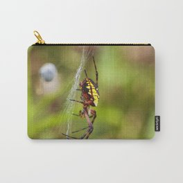 Yellow and Black Argiope Carry-All Pouch