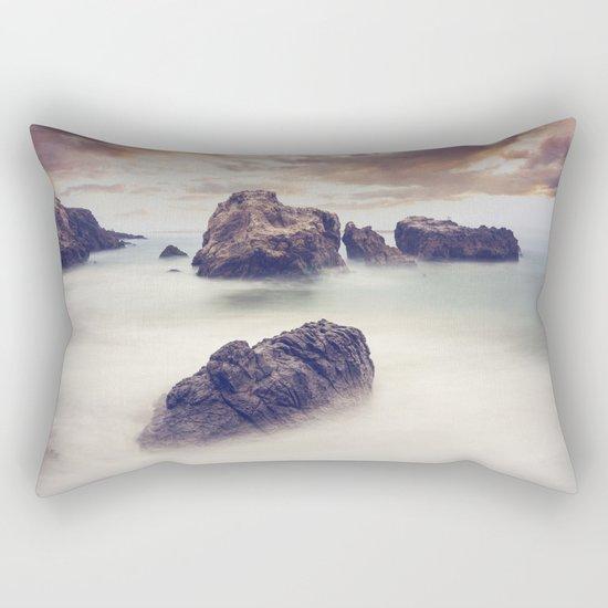 Rocks in the Ocean Rectangular Pillow