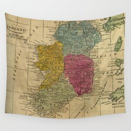 Vintage Map of Ireland (1808) Wall Tapestry