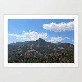 Mountains in Colorado Springs Art Print