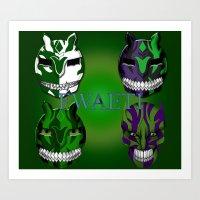 Green eyed Monster (Generation) Art Print