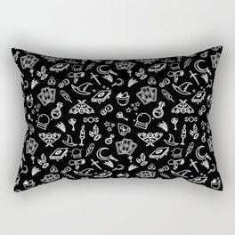 Modern Witch - Black Rectangular Pillow