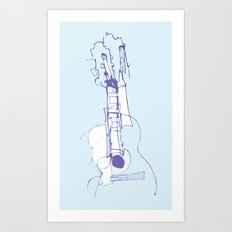Cool Guitar Art Print