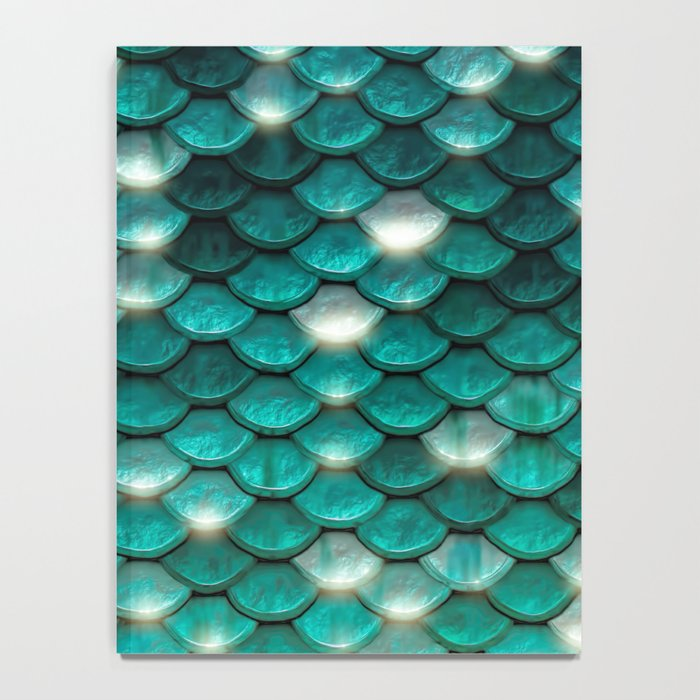 Turquoise sparkling mermaid glitter scales- Mermaidscales Notebook