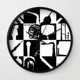 Pop Music Art B&W Wall Clock