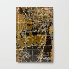 Fort Lauderdale 1949, us map, antique maps Metal Print