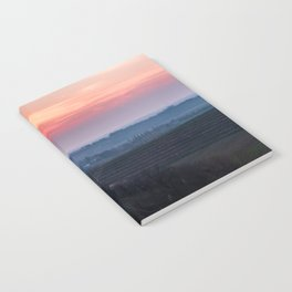 Spring sunset in the vineyards of Collio Friulano Notebook
