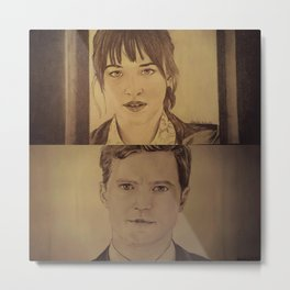 Christian and Ana elevator 1/2 - FIFTY SHADES OF GREY Metal Print