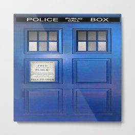doctor who public box  Metal Print
