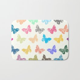 Colorful butterflies Bath Mat