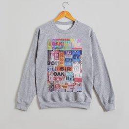 text travel Crewneck Sweatshirt