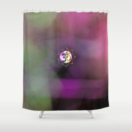 Space Om Shower Curtain