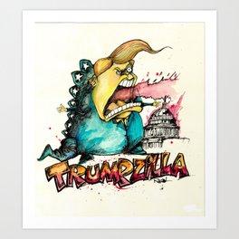 Trumpzilla Art Print