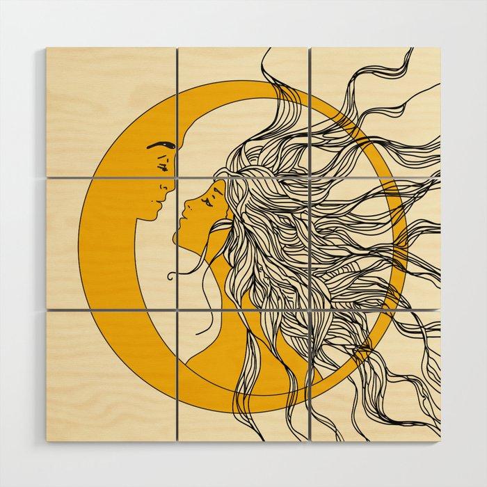 Sun And Moon Wood Wall Art By Nadja1