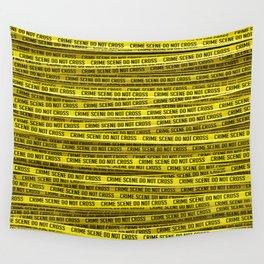 Crime scene / 3D render of endless crime scene tape Wall Tapestry