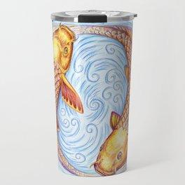 Pisces Fish Yin Yang Mandala Travel Mug