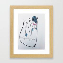Her Joy Spread Like Wildflowers by: Michelle Morrison Framed Art Print