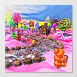 Pink Candyland Canvas Print