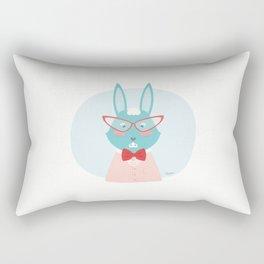 Fancy Rabbit Rectangular Pillow