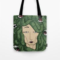 medusa Tote Bags featuring Medusa by Tram