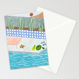 Loeffler Randall shoes on Poolside Stationery Cards