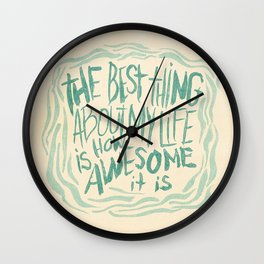 STAY POSI, BRO-DUDES! Wall Clock