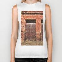 doors Biker Tanks featuring Barn Doors by Agrofilms
