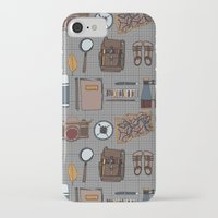 kit king iPhone & iPod Cases featuring Explorers kit by Laura Barnes