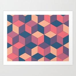 Neo Cubo Art Print