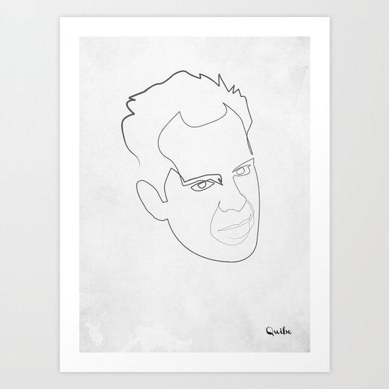 One line Die Hard Art Print